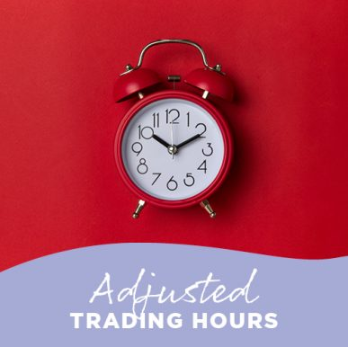 Adjusted trading hours